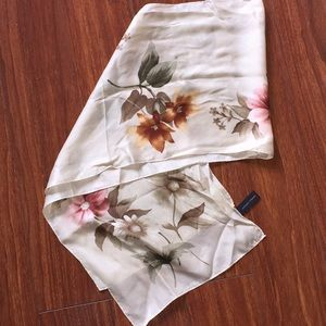 Adrienne Vittadini silk floral print scarf